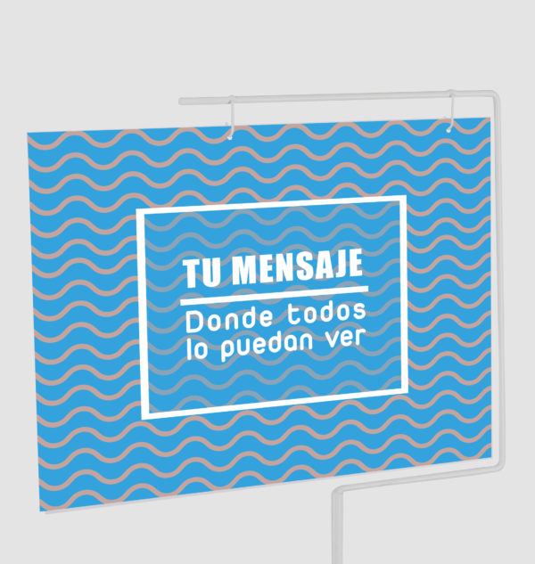 Funda Porta Cartel Horizontal Orificios